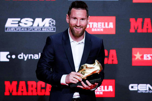 Messi Wins Golden Shoe Award