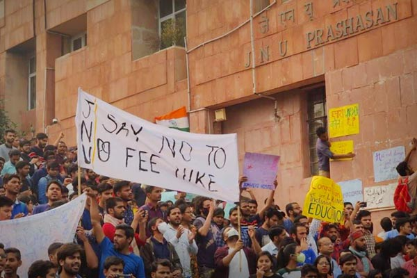 JNU announces partial rollback in fee hike after facing backlash and protest