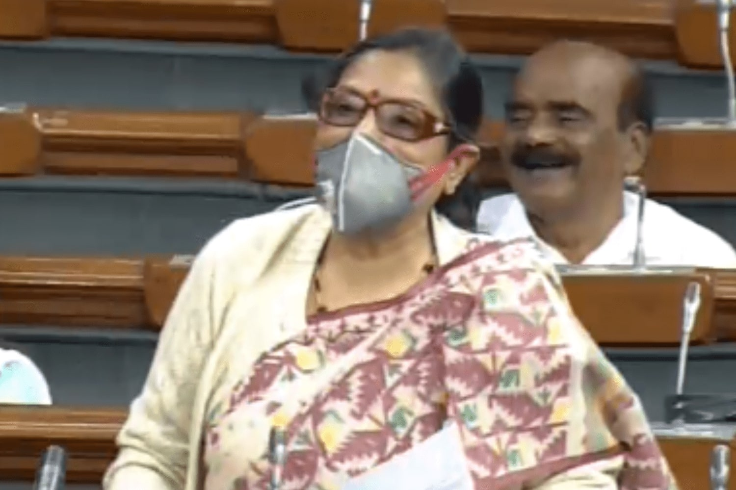 TMC MP arrives in Parliament wearing mask to protest against air pollution