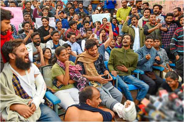 The students also demanded action against the Police