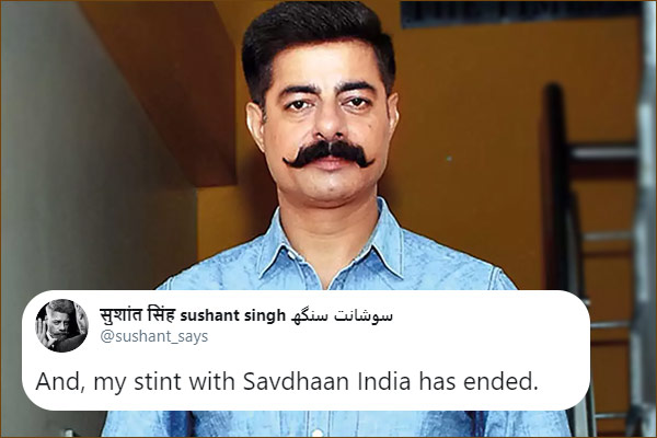 Savdhaan India anchor Sushant Singh out of show after protesting against CAA