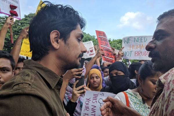 Siddharth has been arrested by Tamil Nadu police from Chennai for protesting
