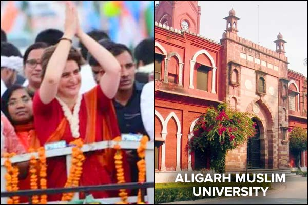 Slogans against Yogi at AMU, 25 students booked Priyanka in Varanasi