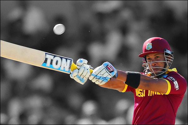 Simmons won the Windies from Ireland with 10 sixes and 5 fours