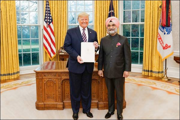 Donald Trump Welcomes India New Ambassador To US