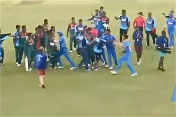ICC punished players who had misbehaved in the U19 World Cup final