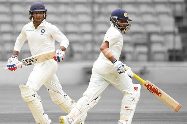 Prtithvi Shaw  and Shubman Gill out for 0 before Cheteshwar Pujara rescues India in tour match