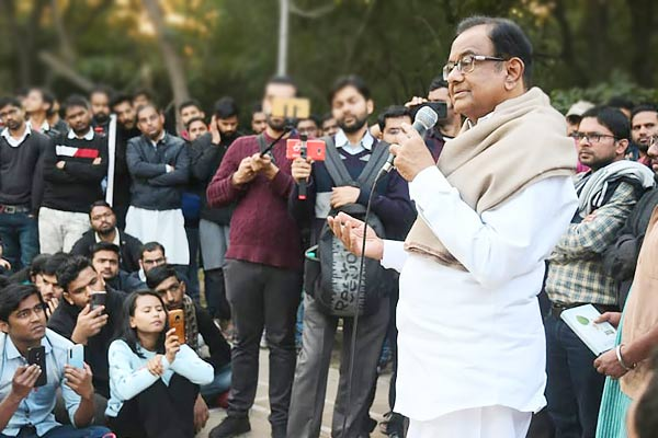 Chidambaram says There must be huge mass movement if Muslims being sent to detention camps