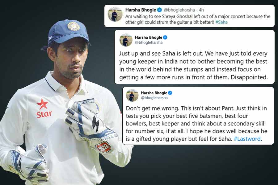 Disappointed Harsha Bhogle Launches Stunning Rant At India For Dropping Wriddhiman Saha