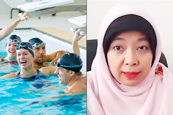 Women can get pregnant by swimming with men with strong sperm