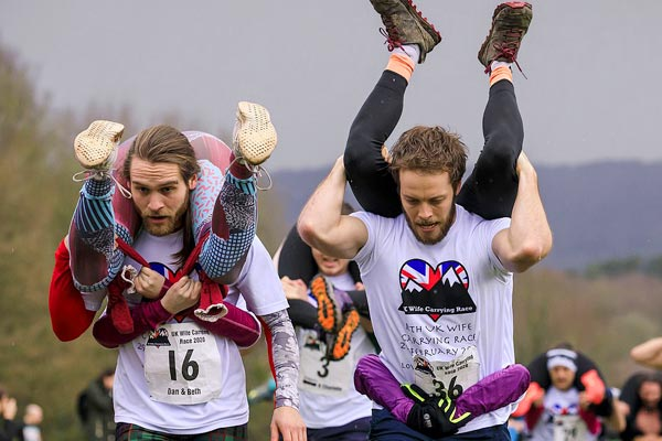 UK Wife Carrying Race the craziest thing you will see today