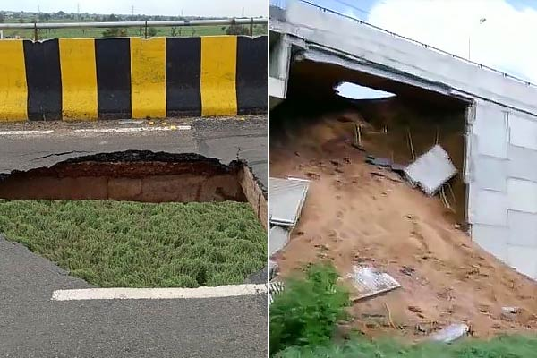 A Gurugram flyover built at Rs 14 crore collapsed in less than 6 months after the inauguration