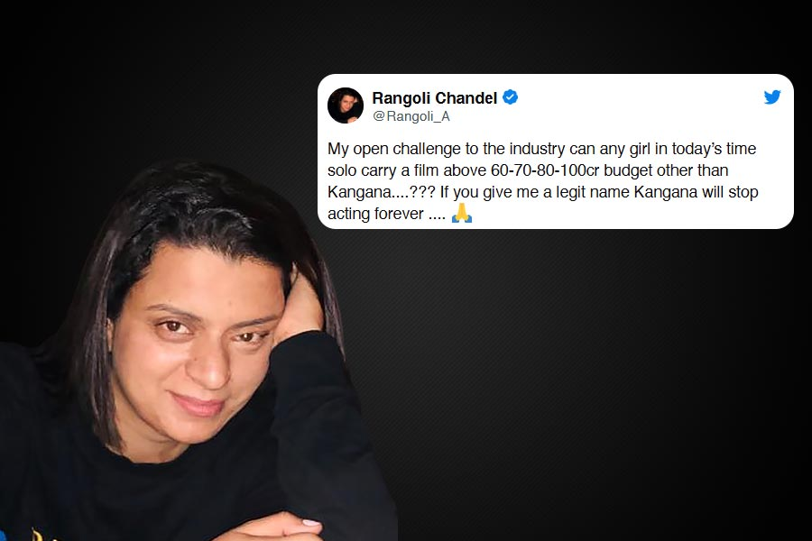 Rangoli challenged Bollywood controversy over film  Manikarnika