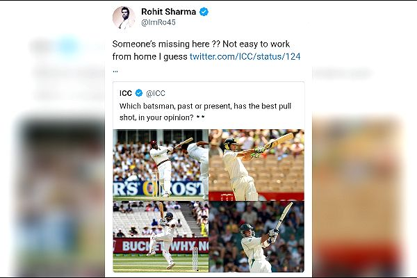 ICC posted photo of batsman playing best pull shot