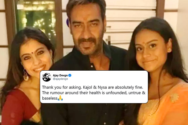 Ajay Devgn dismisses rumours about them contracting coronavirus
