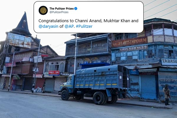 Three Indian photographers awarded Pulitzer Prize for showing the world happenings in Kashmir in 201