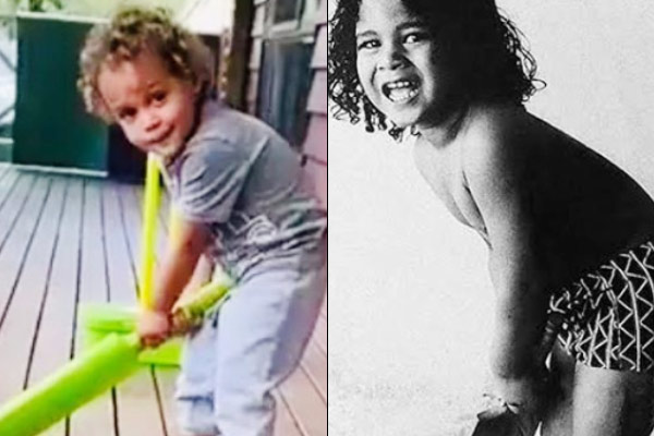 Sachin Tendulkar shares picture of Brian Lara son holding bat compares it with his childhood picture