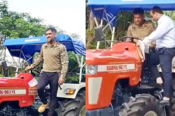MS Dhoni buys a new four-wheeler worth INR 8 lakhs for organic farming