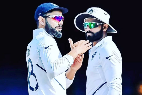 You always start having doubts after asking for DRS  Virat Kohli trolls Ravindra Jadeja over DRS pic