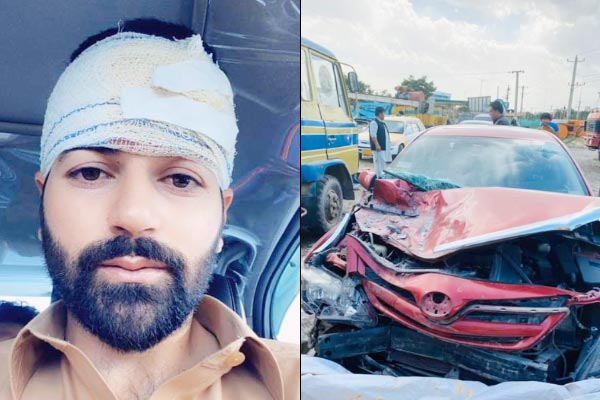 Afghanistan wicketkeeper Afsar Zazai escapes a dangerous car accident gets minor head injuries