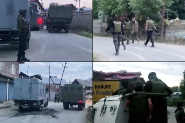 Encounter between security forces-terrorists in Sopore a terrorist pile up encounter continues