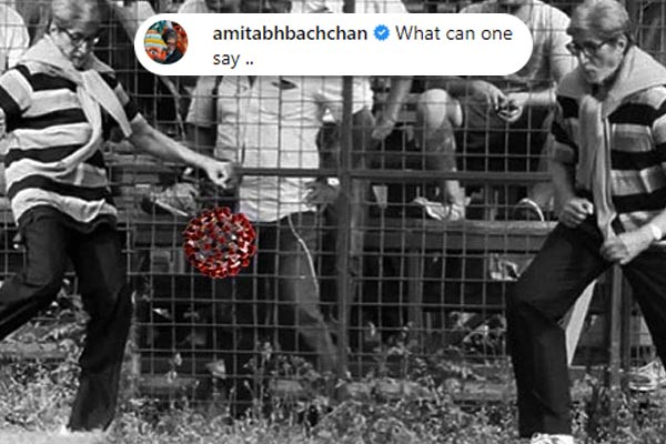 Amitabh Bachchan monochrome photo set for fans after beating Corona