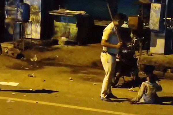 Video of a minor being beaten by a cop in Delhi goes viral constable suspended