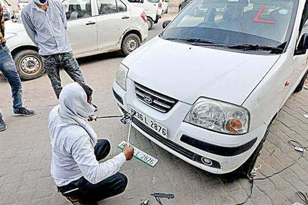 booking closed for high security number plates and colour coded fuel stickers