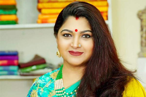 Congress removed Khushboo Sundar as national spokesperson with immediate effect