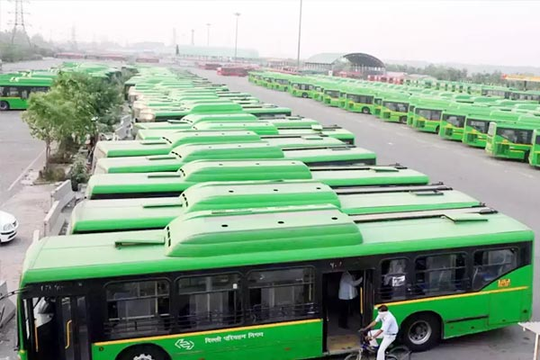 50 buses run by Hydrogen Compressed Natural Gas will run in Delhi from today