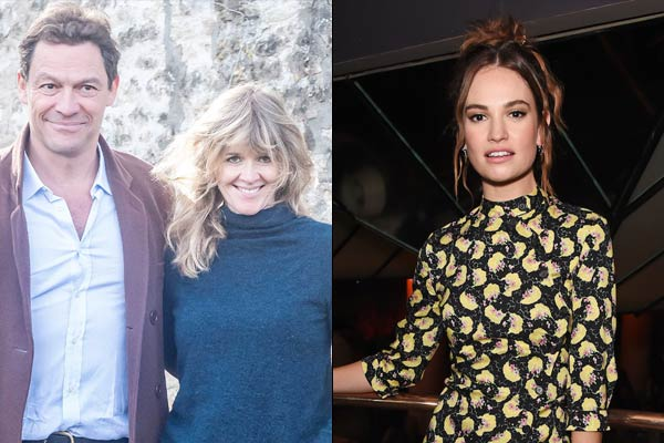 Lily James mortified after Dominic West and Catherine FitzGerald reunite in public