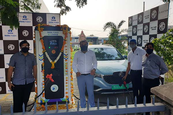 Superfast EV Charging Station Started In Nagpur In Partnership With MG Motor And Tata Power
