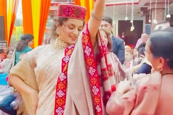 Kangana Ranaut Dances To Folk Song