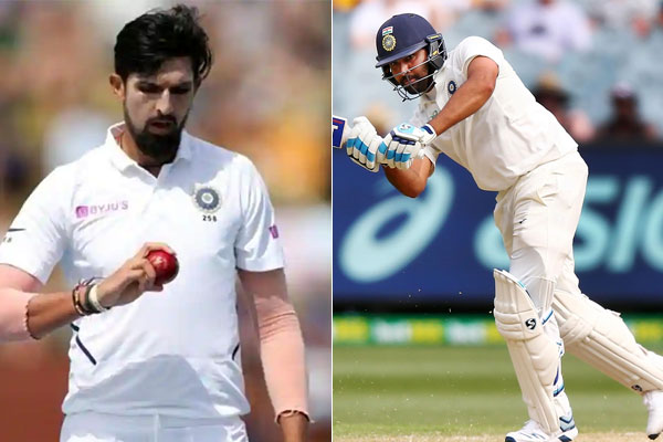 Ishant Sharma and Rohit Sharma Ruled Out Of First Two Tests