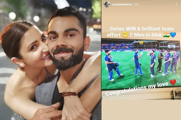 Anushka Sharma posts perfect message for Team India and her love after India&amprsquos T20I series w