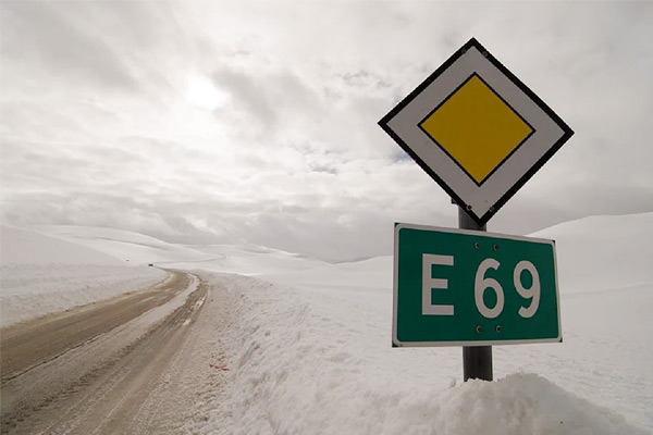 E 69 Highway In North Pole Last Road Of The World