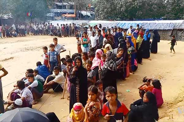 Relocation of Rohingyas