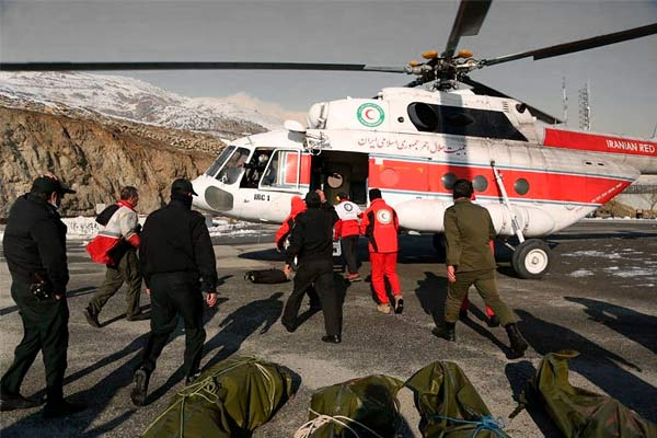 12 People Killed In An Avalanche Area Near Tehran In Iran