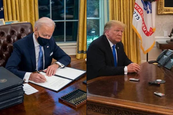 Joe Biden Removes Donald Trumps Diet Coke Button From The Oval Office
