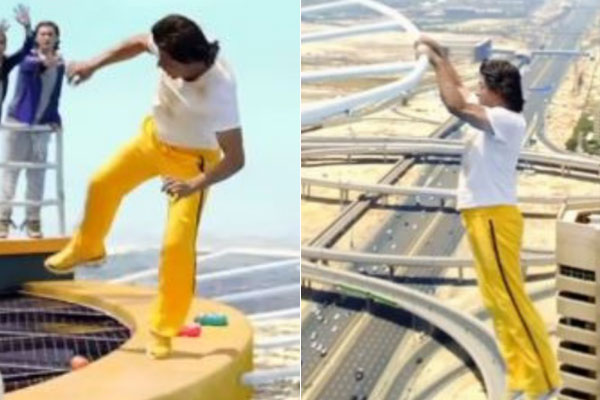 Shah Rukh Khan Jumped In The Air For A Surprise Stunt Video