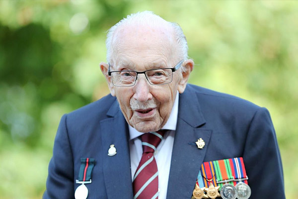 British warrior Tom Moore, who served in India during World War, died of Corona