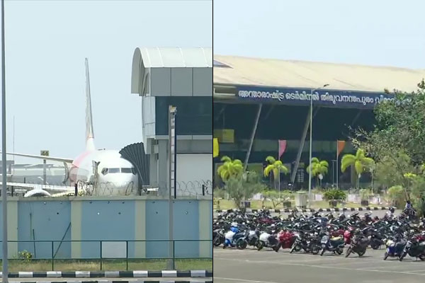 Air India Express Sharjah Calicut flight with 104 passengers on board safely landed at Thiruvanantha
