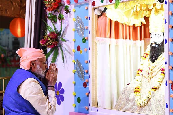 PM Modi Pays Tribute To Sant Ravidas On 644th Birth Anniversary