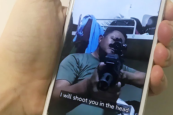 Myanmar soldiers use TikTok to threaten