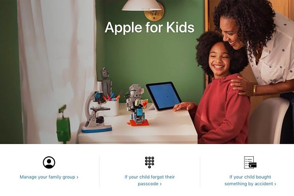 Apple launches Apple for kids portal
