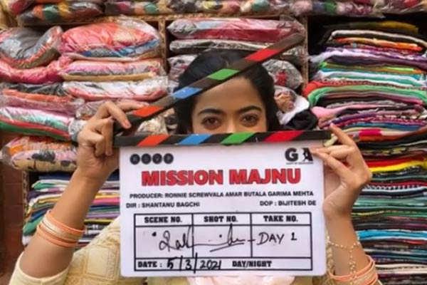 Rashmikas first Bollywood project Mission Majnu begins will be seen with Siddharth Malhotra