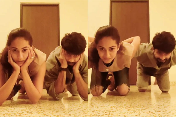 Shahid Kapoor Took The Viral Centre Of Gravity Challenge With His Wife Mira Rajput