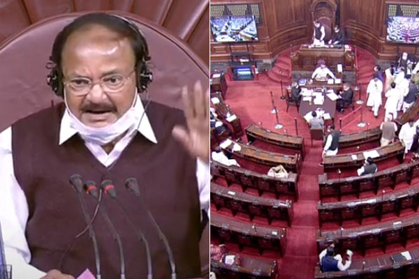 Opposition uproar in Parliament over rising oil prices Rajya Sabha proceedings adjourned