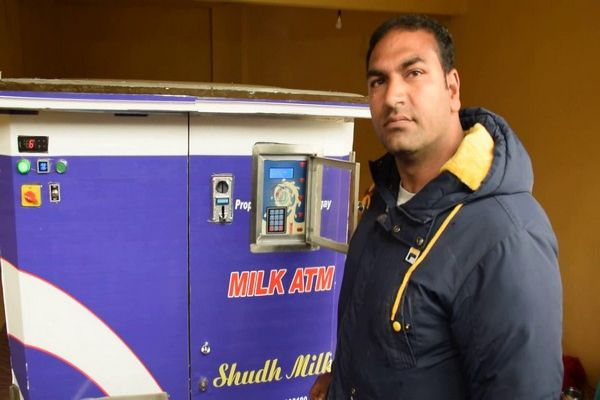 First milk ATM installed in Pulwama Jammu and Kashmir