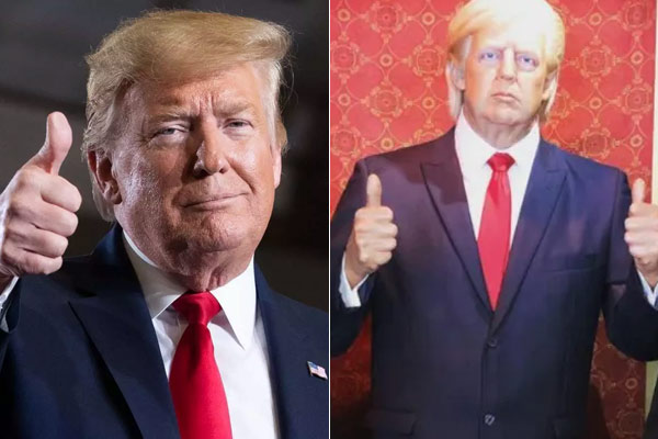 Donald Trumps wax statue removes from Texas museum as onlookers kept punching it